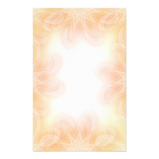 Beautiful pastel flower design personalized stationery