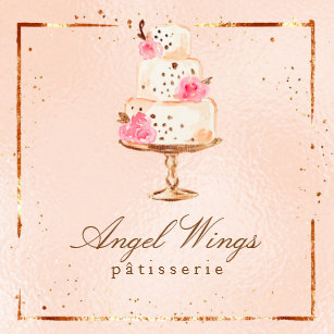 Beautiful Patisserie Bakery Cakes Sweets Square Business Card