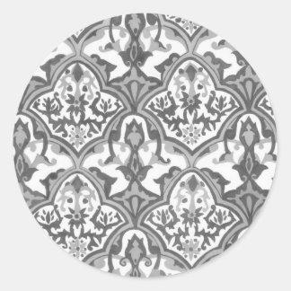 BEAUTIFUL PATTERN - Grayscale Classic Round Sticker