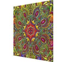Beautiful Pattern Metallic Rainbow Canvas Print