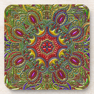 Beautiful Pattern Metallic Rainbow Coaster