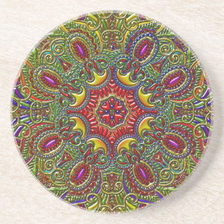 Beautiful Pattern Metallic Rainbow Drink Coaster