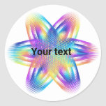 Beautiful pattern of titanium colors - classic round sticker