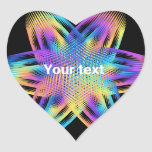 Beautiful pattern of titanium colors - heart sticker