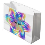 Beautiful pattern of titanium colors - large gift bag