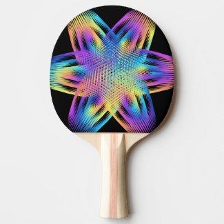 Beautiful pattern of titanium colors - ping pong paddle