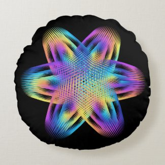 Beautiful pattern of titanium colors - round pillow