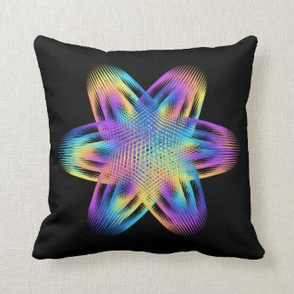 Beautiful pattern of titanium colors - throw pillow