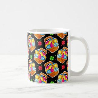 Beautiful pattern with Easter basket Coffee Mug