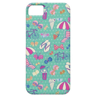 Beautiful Pattern With Summer Elements iPhone 5 Cases