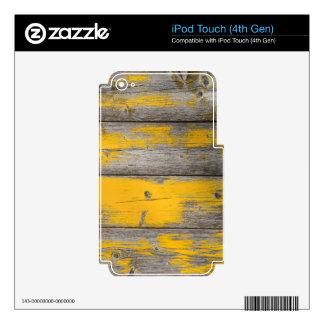 beautiful pattern wood fashion style rich looks iPod touch 4G decal