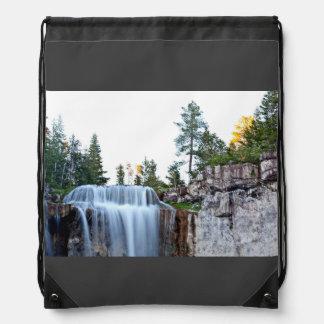 Beautiful Paulina water falls Drawstring Backpack