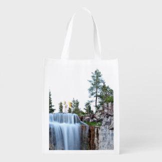 Beautiful Paulina water falls Reusable Grocery Bag