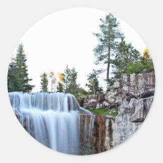 Beautiful Paulina water falls Classic Round Sticker