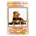 Beautiful Paw Prints on Our Hearts Dog Memorial Flexible Magnet