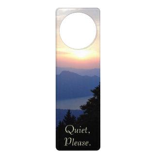 Beautiful Peaceful and Quiet Sunset Door Knob Hangers