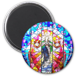 Beautiful Peaceful Colorful painted glass Angels Fridge Magnets