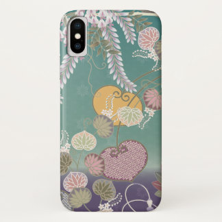 Beautiful Peaceful Scene of Flowers in the Wind iPhone X Case