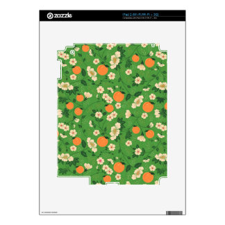 Beautiful Peach and Floral Decal For The iPad 2
