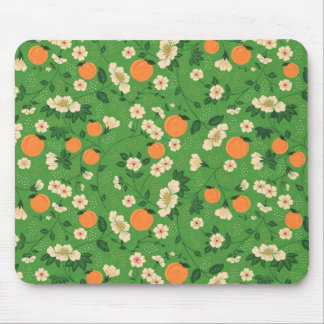Beautiful Peach and Floral Mouse Pad