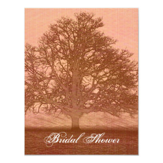 Beautiful peach colored abstract tree in field card