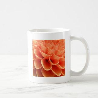 Beautiful Peach Colored Dahlia Flower Petals Coffee Mugs