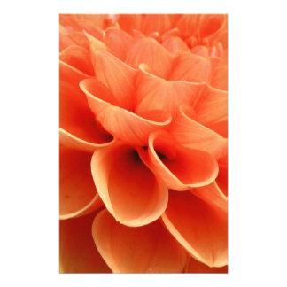 Beautiful Peach Colored Dahlia Flower Petals Stationery Design