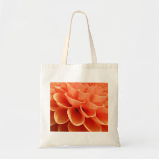 Beautiful Peach Colored Dahlia Flower Petals Tote Bag