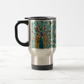 Beautiful Peacock Art 15 Oz Stainless Steel Travel Mug