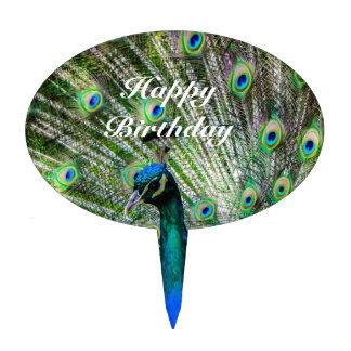 Beautiful Peacock Cake Topper