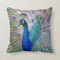 Beautiful Peacock Decorative Throw Pillow