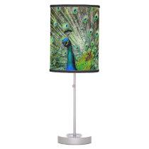 Beautiful Peacock Desk Lamp