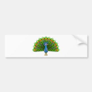 Beautiful Peacock Displaying Plumage Bumper Sticker