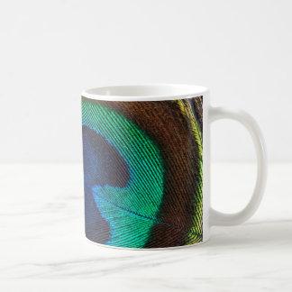 Beautiful Peacock Feather Classic White Coffee Mug