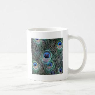 Beautiful Peacock Feathers Classic White Coffee Mug