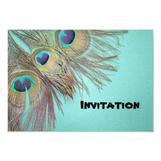 Beautiful Peacock Feathers Invitation Card