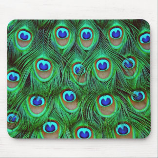Beautiful Peacock Feathers Mouse Pad