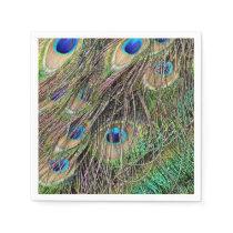 Beautiful Peacock Feathers Napkin