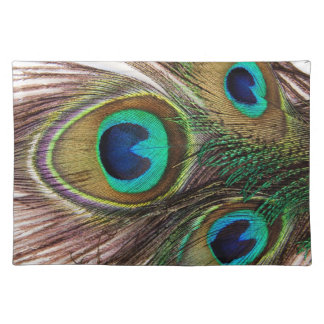 Beautiful Peacock Feathers Placemats