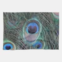 Beautiful Peacock Feathers Towel
