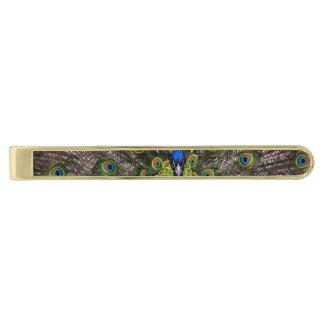 Beautiful Peacock Gold Finish Tie Bar