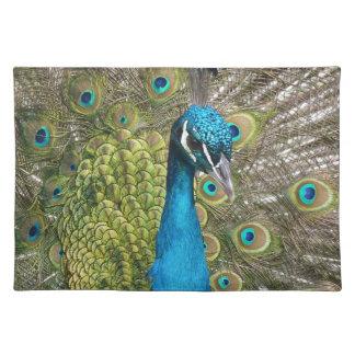 beautiful peacock image placemat