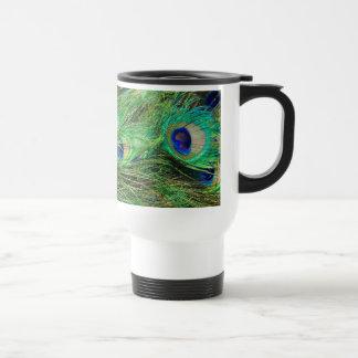 Beautiful Peacock 15 Oz Stainless Steel Travel Mug