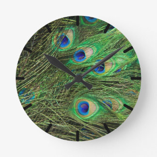Beautiful Peacock Round Clock