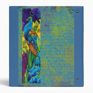 Beautiful Peacock Silk Painting Photo Binder Album