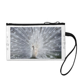 Beautiful peacock wristlet bag