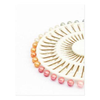beautiful pearl pink pin set postcard