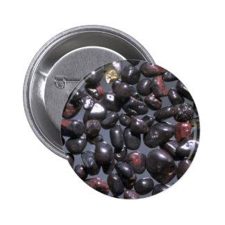 Beautiful Pebbles from Magnetite, Oneuli, Puu Olai Pinback Button