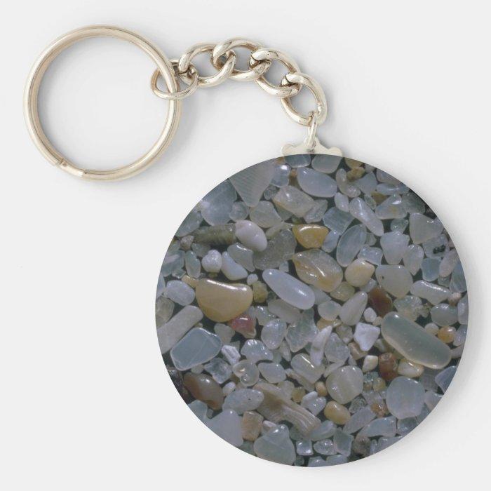 Beautiful Pebbles from Mazatlan, Mexico Keychain