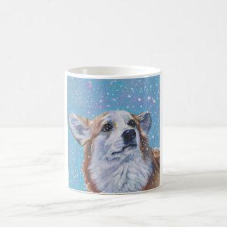 Beautiful Pembroke Welsh Corgi Dog Painting Coffee Mug